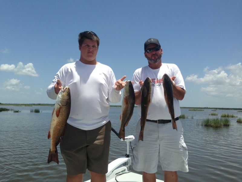 New orleans fishing report 6 19 2013 fishing red fish for Fishing camps for rent in louisiana